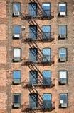 Pożarnicza ucieczka, NYC Obrazy Royalty Free