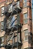 Pożarnicza ucieczka w Soho, Manhattan, Nowy Jork Obraz Stock