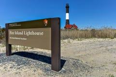 Pożarnicza wyspy latarnia morska Obrazy Stock