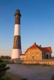 Pożarnicza wyspy latarnia morska Long Island NY Fotografia Royalty Free