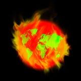 Pożarnicza ziemia Obraz Stock