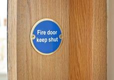 Pożarniczego drzwi znak Zdjęcie Royalty Free