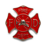 Pożarniczego wojownika odznaka Zdjęcie Royalty Free