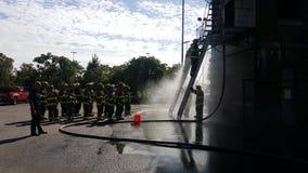 Pożarniczego wojownika szkolenie fotografia stock