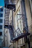 Pożarniczej ucieczki drabina Fotografia Stock