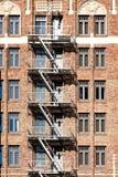 Pożarniczej ucieczki schodki w usa Zdjęcia Stock