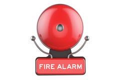 Pożarniczy alarm, 3D rendering Zdjęcia Royalty Free
