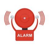 Pożarniczy alarm na bielu Obraz Stock