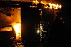 Pożarniczy auto remontowy sklep Obrazy Royalty Free