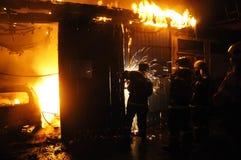 Pożarniczy auto remontowy sklep Obraz Royalty Free