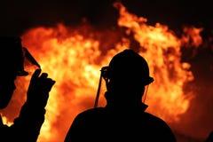 Pożarniczy bój Zdjęcie Stock
