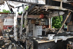 pożarniczy dom Fotografia Stock