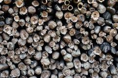 Pożarniczy drewno. Fotografia Stock