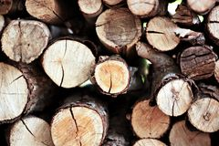 Pożarniczy drewno Zdjęcia Royalty Free