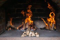 Pożarniczy drewno Obraz Stock
