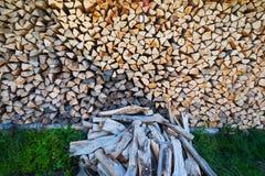 Pożarniczy drewno Fotografia Stock