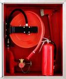 Pożarniczy gabinet Obrazy Royalty Free