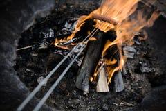 pożarniczy hotdogs Obraz Stock