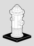 Pożarniczy hydrant isometric 3d Fotografia Royalty Free