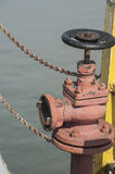 Pożarniczy hydrant na ferryboat Zdjęcie Stock