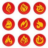 pożarniczy ikony setu wektor Obraz Royalty Free