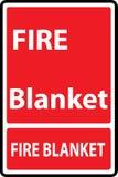 Pożarniczy koc znak Zdjęcie Royalty Free