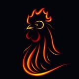 Pożarniczy kogut Obraz Royalty Free