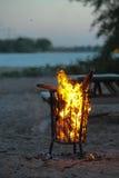Pożarniczy kosz zdjęcie royalty free