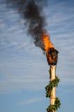 Pożarniczy kosz Zdjęcia Stock