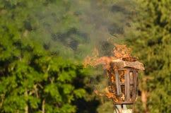 Pożarniczy kosz Obrazy Royalty Free