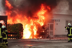 pożarniczy obozowicza pojazd Zdjęcie Royalty Free