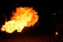 Pożarniczy oddychanie Zdjęcia Stock