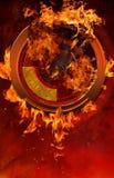Pożarniczy portal Zdjęcia Stock