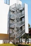 Pożarniczy schodki na budynku Zdjęcia Royalty Free