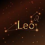 Pożarniczy symbol Leo zodiaka znak, horoskop, wektorowa sztuka i ilustracja, Zdjęcie Royalty Free