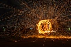 Pożarniczy taniec. Fotografia Royalty Free