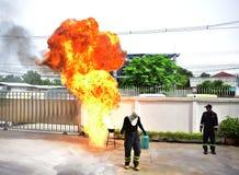 Pożarniczy test Obrazy Royalty Free