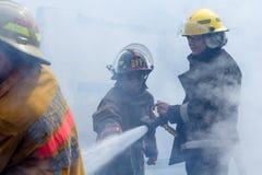 Pożarniczy wojownicy Zdjęcie Royalty Free