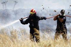 Pożarniczy wojownik obrazy stock