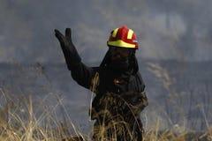 Pożarniczy wojownik zdjęcia stock