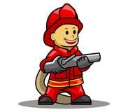 Pożarniczy wojownik Ilustracja Wektor