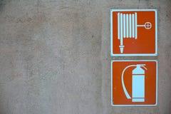 Pożarniczy zbawczy znak Fotografia Royalty Free