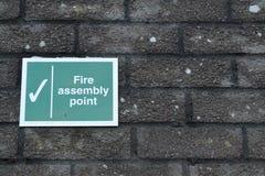 Pożarniczy zgromadzenie punktu znak obraz royalty free