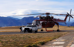 Pożaru lasu helikopter Fotografia Royalty Free
