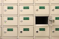 PO Box. Wall of Post Office Box Stock Photos