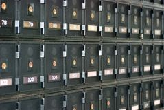 PO boxes Stock Image