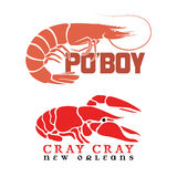Po'Boy and Cray Cray Crawfish Stock Photography