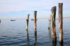 Po Chioggia λιμένας ποταμών Στοκ εικόνα με δικαίωμα ελεύθερης χρήσης