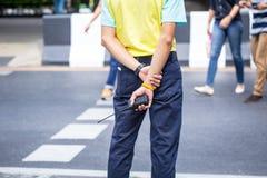 Po cywilnemu policja, oficer, pracownik ochrony Zdjęcie Royalty Free