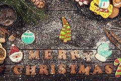 Pão-de-espécie para anos novos e Natal Foto de Stock